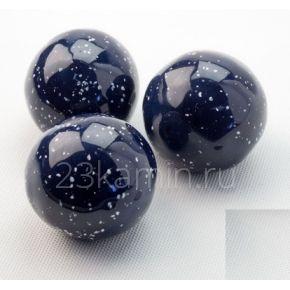 Декоративные керамические камни-шары космос синие 14 ШТ