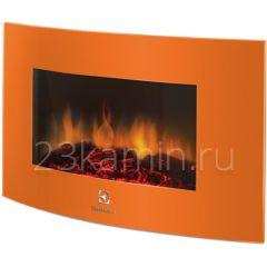 Навесной электрокамин Electrolux EFP/W-1200URLS оранжевый