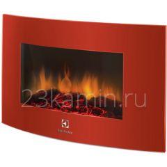 Навесной электрокамин Electrolux EFP/W-1200URLS красный